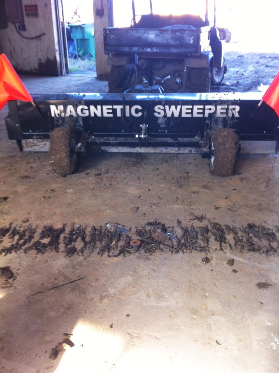 Sabine landfill magnetic sweeper