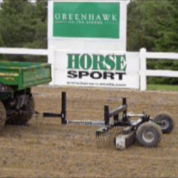 Caledon Equestrian Park using a Rhino Magnetic Sweeper