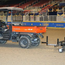 horse-arena-cleaning-with-rhino-magnet-bluestreak-equipment