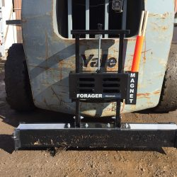 forager_44_forklift_magnetic_sweeper_on Yale_forklift-bluestreakequipment