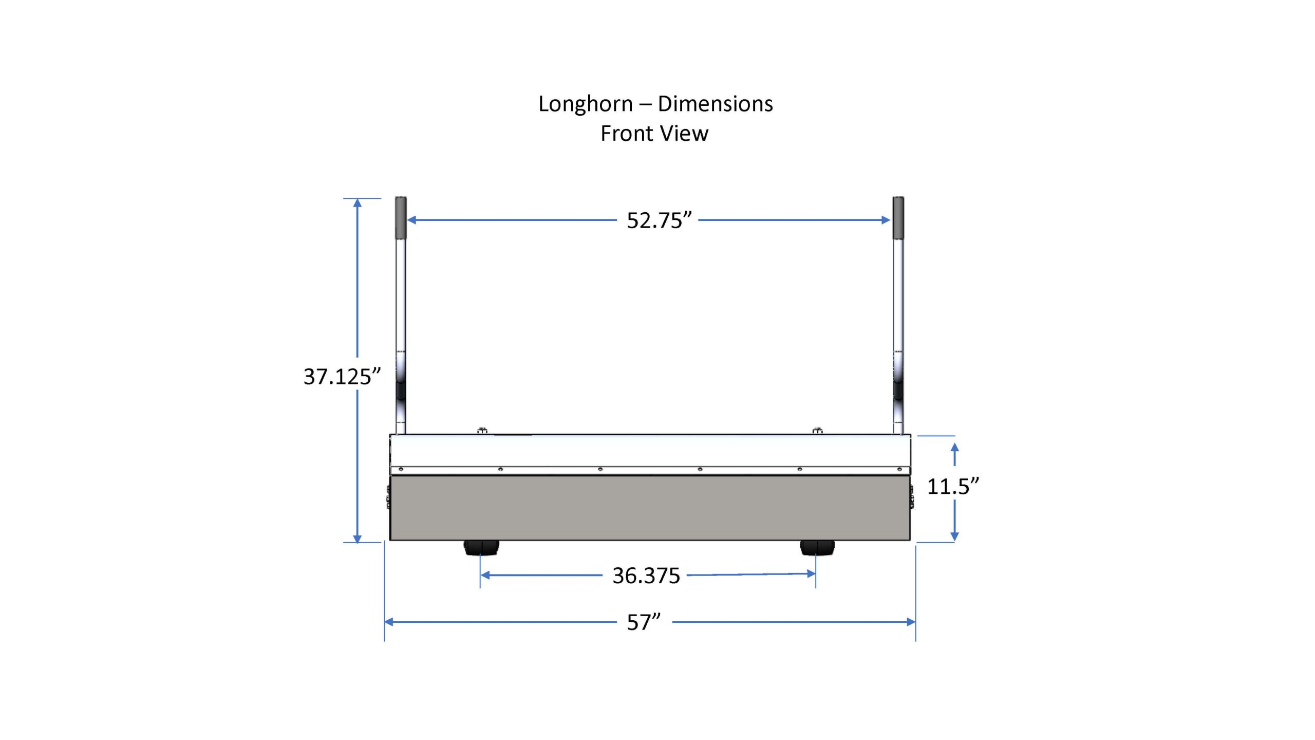 Longhorn_dimensions_front_view_bluestreakequipment
