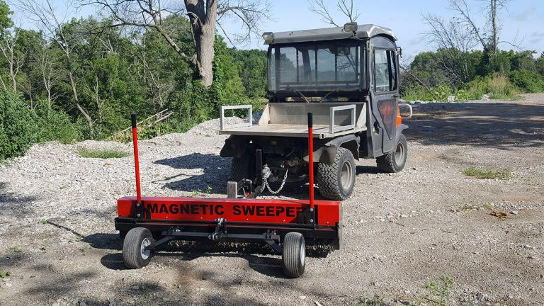 construction site magnetic sweeper