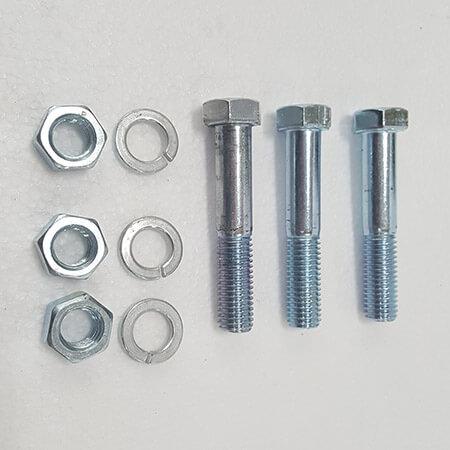 """Part #17 Yacare .265"""" x 3.5"""" bolts (3pcs) w/lock washers (3pcs) and nuts (3pcs)"""