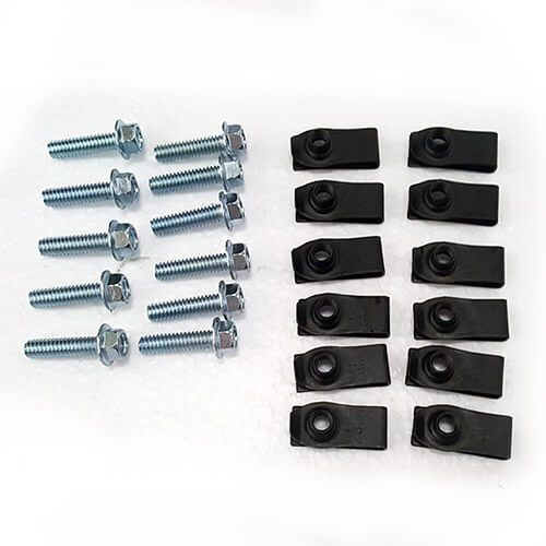 Part #22 Yacare Steel Lid Bolts (12pcs) and u-nuts (12pcs)