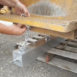 Installing Eiger forklift magnetic sweeper