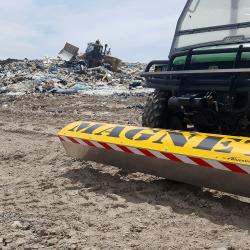 Yak front mount landfill UTV magnet