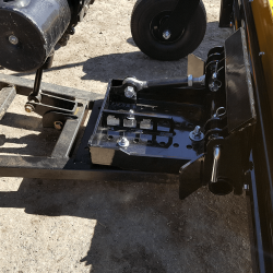 Yak magnet utilizes snow plow mounting bracket