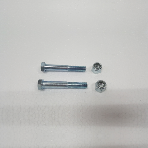 "Part #11 Yak Caster Adjuster 0.375"" x 2.5"" Bolts (2 pc) w/ 0.375"" Nyloc Nuts (2 pcs)"