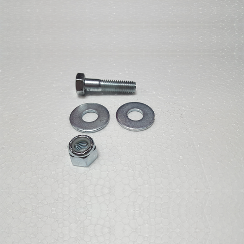 "Part #26 Yak Steel Front Position Quick Hitch Bolt 0.5"" x 2"" (1 pc) w/0.5"" washers (2 pcs) and 0.5"" Nyloc Nut (1 pc)"