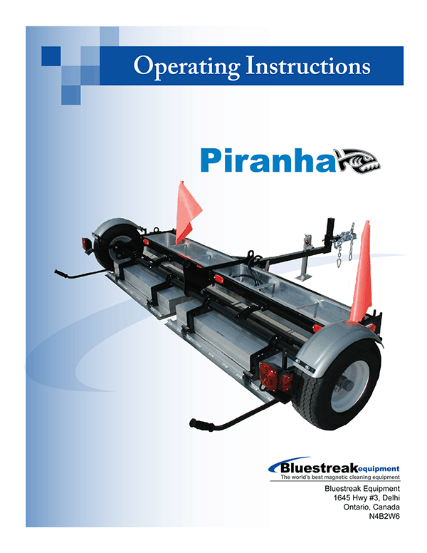 Piranha Operating Instructions