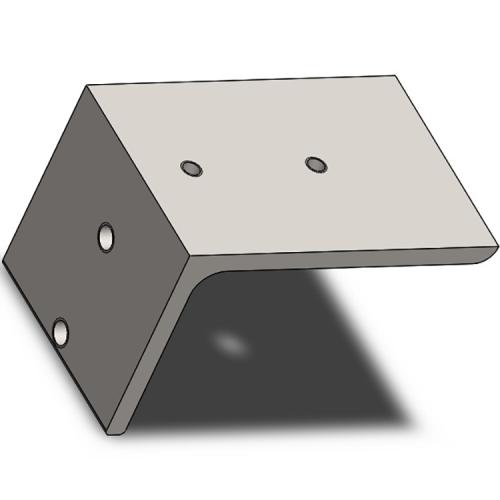 Part #4 PYR 4.5x4.5 Steel End Cap (1 pc)