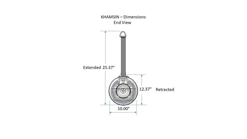 Khamsin CAD file - end view