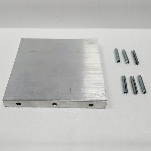 """Part #1 Gobie 4 1/2"""" x 9"""" Aluminum magnet housing end cap (1pc)"""