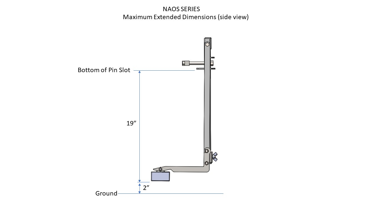 Naos maximum extended dimensions