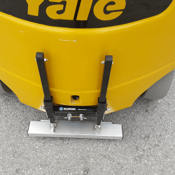 Forklift magnetic sweeper by Bluestreak Equipment