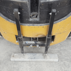 Kursk forklift magnetic sweeper By Bluestreak Equipment