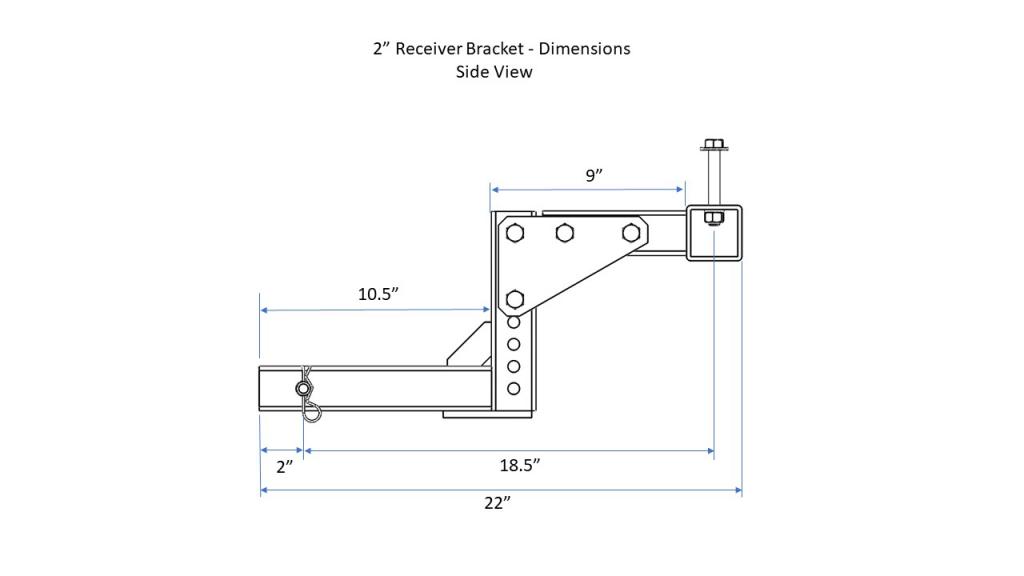 2 inch Receiver Bracket - Side View