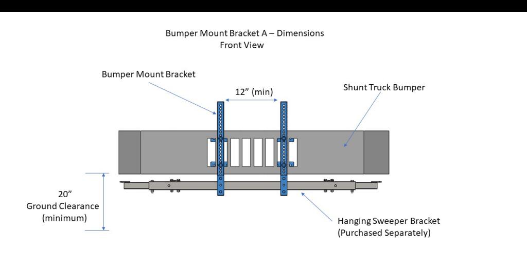 Bumper Mount Bracket A - Front View