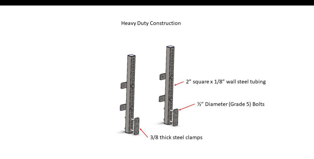 Bumper Mount Bracket A - Heavy Duty Construction