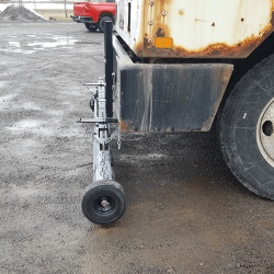 Bumper Mount Bracket A + Eiger magnetic sweeper on shunt truck