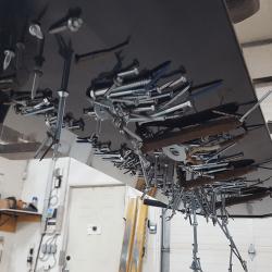 Debris on OBLAST Forklift magnet