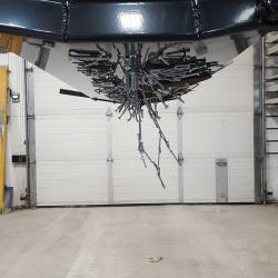 Debris on bottom of OBLAST magnetic sweeper
