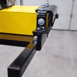 End view of OBLAST forklift magnet