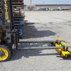 Fork mounted forklift magnet by Bluestreak Equipment