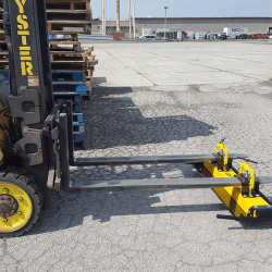 Fork mounted forklift magnetic sweeper by Bluestreak_Equipment