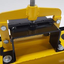 Fork pocket on OBLAST forklift magnetic sweeper