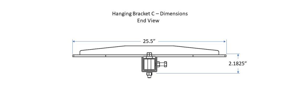 Hanging bracket C - End View
