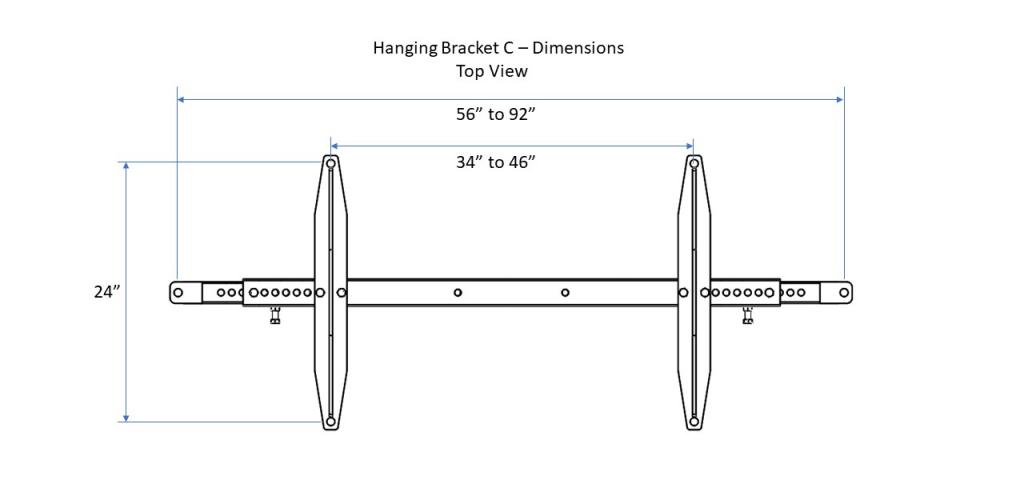 Hanging bracket C - Top View