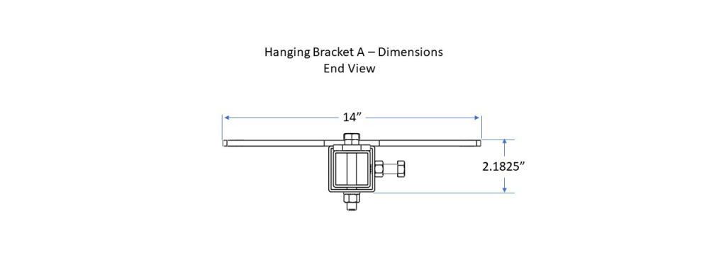 Hangng Bracket A - End View