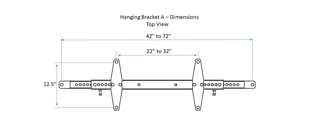Hangng Bracket A - Top View