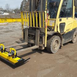 OBLAST forklift magnet by Bluestreak Equipment