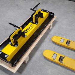 OBLAST forklift magnet sweeper by Bluestreak Equipment