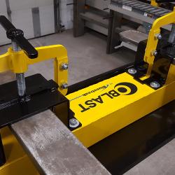 OBLAST forklift magnetic sweeper by Bluestreak Equipment