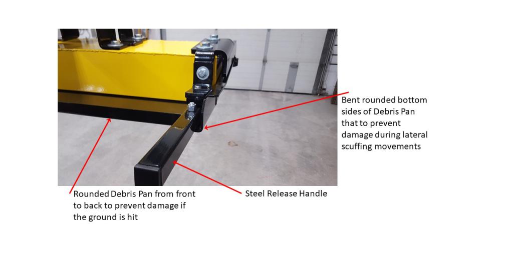 Oblast magnetic sweeper debris pan features 3
