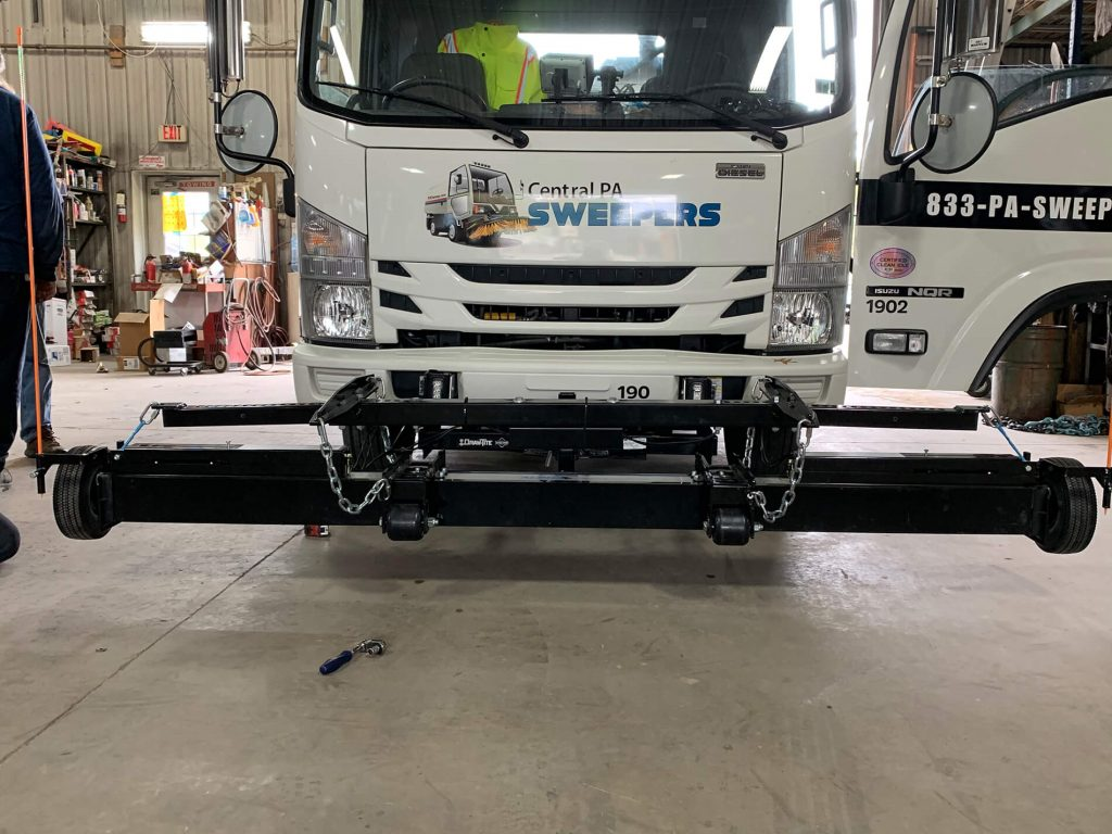 Bluestreak Equipment street sweeper magnet