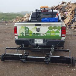 Hanging magnet rear mounted on pickup truck by Bluestreak Equipment