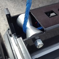 V shaped guide for blue actuator rope on Alpha hanging magnetic sweeper