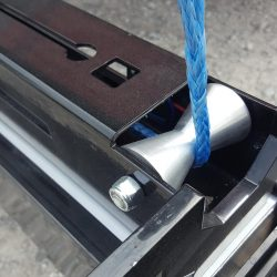 blue actuator rope on Alpha hanging magnetic sweeper