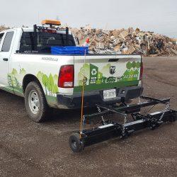 landfill hanging magnet truck mounted by Bluestreak Equipment