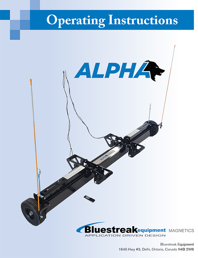 Alpha Series Operating Instructions