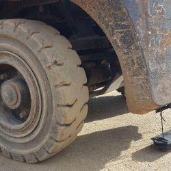 Forklift hanging magnet by Bluestreak Equipment