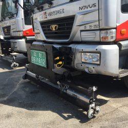 ISO magnetic sweeper on South Korean highway maintenance trucks
