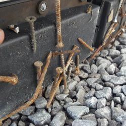 Nomic forklift magnetic sweeper nail magnet
