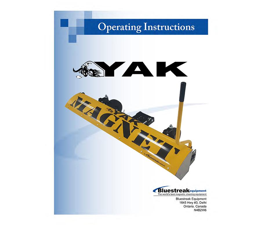 Yak Series Operating Instructions