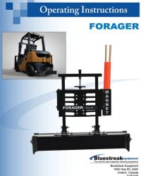 Forager Series Operating Instructions