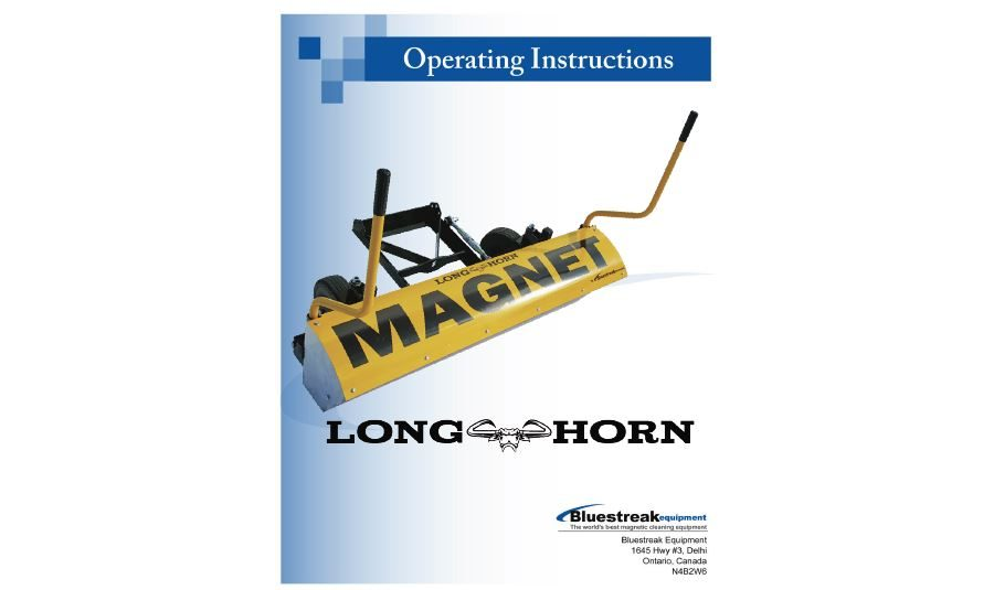 Longhorn Operating Instructions PDF